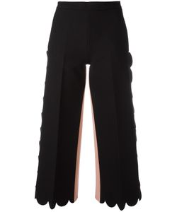 MSGM | Escalloped Cropped Flared Trousers 38 Polyester/Spandex/Elastane/Viscose