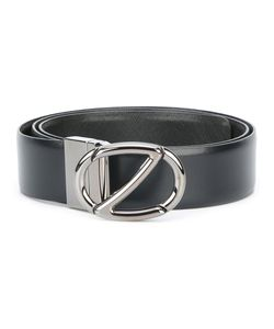 Z Zegna | Logo Buckle Belt 95 Calf Leather