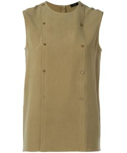 Joseph | Double-Breasted Buttoned Tank 40 Silk