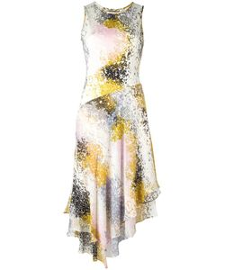 Diane Von Furstenberg | Abstract Print Asymmetric Dress 6 Silk/Polyester