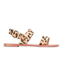 Red Valentino | Leo Flat Sandals 36 Leather/Calf Hair