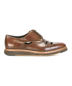 Salvatore Ferragamo | Cutwork Derby Shoes 9 Calf Leather/Leather/Rubber