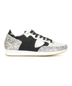 Philippe Model | Glitter Detail Sneakers 35 Leather/Pvc/Nylon/Cotton
