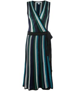 Diane Von Furstenberg | Striped Dress Medium Cotton/Viscose/Silk/Polyester