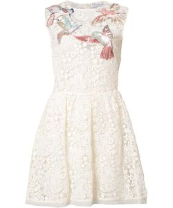 Red Valentino | Bird Patches Macramé Dress 44 Cotton