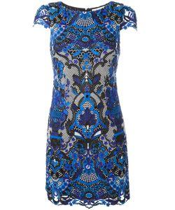 Alice + Olivia | Macramé Lace Mini Dress 6 Polyester/Spandex/Elastane
