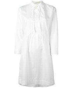 Peter Jensen | Neck Tie Shirt Dress Small Cotton