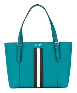 Bally | Striped Trim Tote Bag Calf Leather