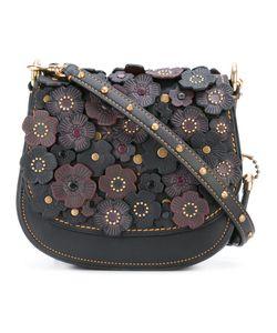 COACH | Flower Embellished Shoulder Bag Leather