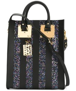 Sophie Hulme | Mini Albion Glitter Tote Leather