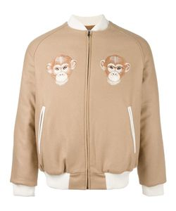 Lc23 | Monkey Patches Bomber Small Virgin Wool/Cashmere/Nylon/Polyamide