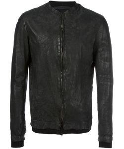 SALVATORE SANTORO | Distressed Leather Jacket 56 Leather/Cotton