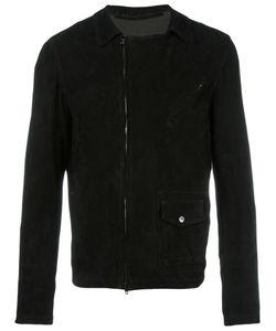 SALVATORE SANTORO | Zip Up Jacket 54 Leather/Cotton