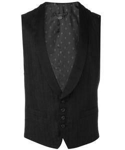 John Varvatos   Shawl Lapel Waistcoat 52 Cotton/Linen/Flax/Ramie