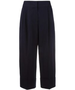 Antonio Marras | Pinstripe Cropped Trousers 44 Cotton/Virgin Wool