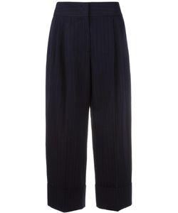 Antonio Marras | Pinstripe Cropped Trousers 44 Cotton/Virgin Wool