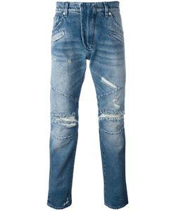 Pierre Balmain | Distressed Slim Jeans 33 Cotton