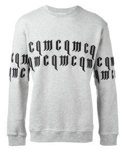 Mcq Alexander Mcqueen | Goth Logo Sweatshirt Large Cotton