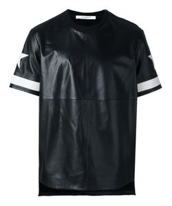 Givenchy   Star Print Leather T-Shirt Medium Lamb Skin/Viscose/Cupro/Spandex/Elastane