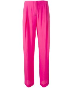 Cedric Charlier | Cédric Charlier Straight Tailored Trousers 44 Silk/Acetate