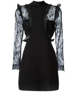 SELF-PORTRAIT | Ruffled Detailing Sheer Dress 12 Polyester/Polyamide/Spandex/Elastane/Polyester