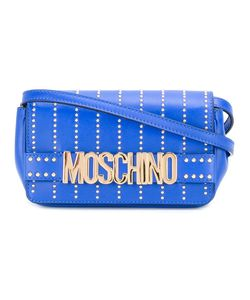 Moschino   Studded Letters Crossbody Bag Calf Leather