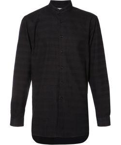 NAKED AND FAMOUS | Band Collar Shirt Medium Cotton