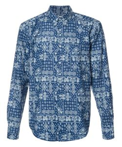 NAKED AND FAMOUS | Paisley Print Shirt Large Cotton