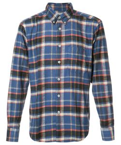NAKED AND FAMOUS | Button Down Plaid Shirt Medium