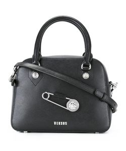 Versus | Oversized Pin Detail Tote Calf Leather