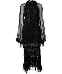 Jonathan Simkhai   Lace Detail Dress 12 Cotton/Polyester/Viscose