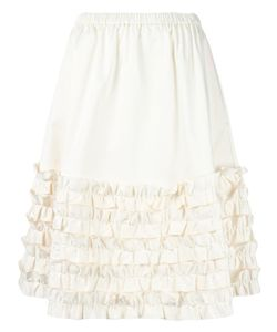 PASKAL | Ruched Midi Skirt Small Cotton/Spandex/Elastane