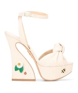 Charlotte Olympia | Vreeland Sandals 39 Linen/Flax/Leather