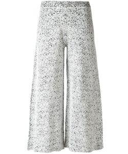 Theory | Wide-Legged Cropped Trousers Small Rayon/Polyamide/Nylon/Spandex/Elastane