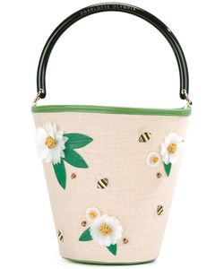 Charlotte Olympia | Picnic Bucket Tote Leather/Linen/Flax