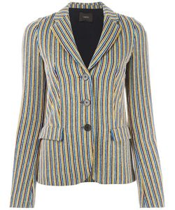Odeeh | Striped Blazer 38 Polyester/Viscose/Cotton