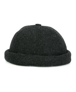 BETON CIRE | Miki Twill Hat Adult Unisex Bamboo/Calf Leather/Merino