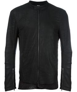 Isabel Benenato   Zipped Leather Jacket 46 Leather/Acetate/Cupro
