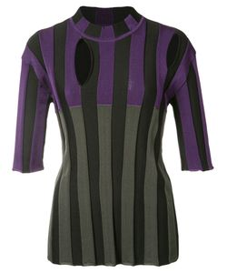 Nina Ricci | Striped Cut-Out Detail Blouse