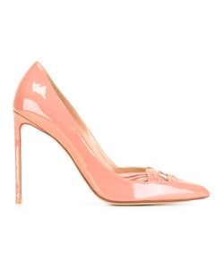 FRANCESCO RUSSO | Pointed Toe Pumps 36 Patent Leather/Leather