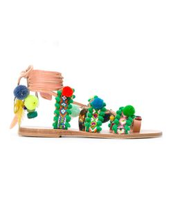 ELINA LINARDAKI | Marabu Embellished Sandals Size 41