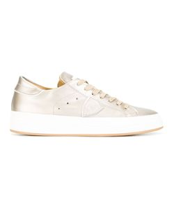 Philippe Model | Lace-Up Sneakers 41 Cotton/Leather/Rubber