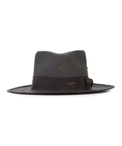 NICK FOUQUET | Ribbon Trim Hat 56 Straw/Polyester