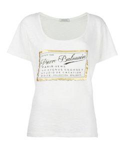 Pierre Balmain | Logo Print T-Shirt 34 Cotton