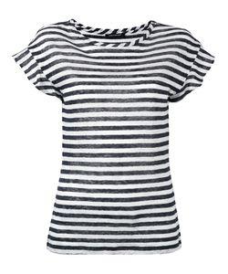 Luisa Cerano | Semi-Sheer Striped T-Shirt Size 44