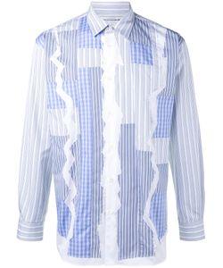 Comme Des Garcons | Comme Des Garçons Shirt Stripe Patchwork Shirt Xl