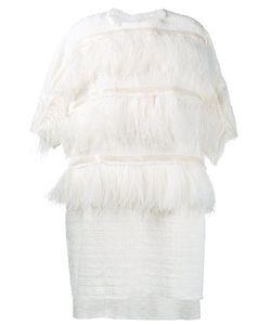 Faith Connexion | Ostrich Feather Trim Dress Medium Cotton/Viscose/Polyester/Viscose