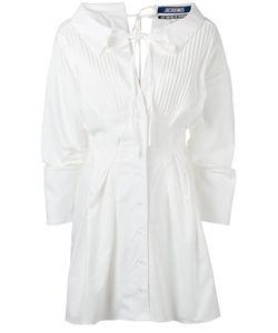 JACQUEMUS | Pleat-Front Shirt Dress 38 Cotton