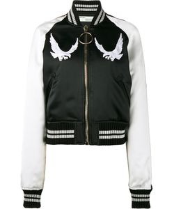 OFF-WHITE | Bird Embroide Bomber Jacket Small Polyester/Viscose/Polyamide
