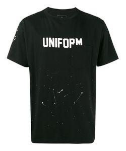UNIFORM EXPERIMENT | Футболка С Эффектом Разбрызганной Краски И Принтами